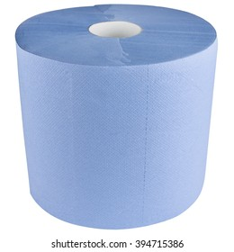 Industrial paper towel roll blue color