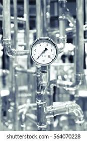 industrial pipe, valves, detail