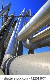 Industrial pipeline equipment of the factory