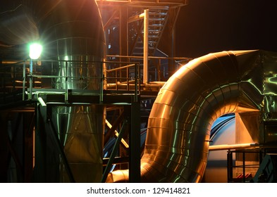 industrial pipes view