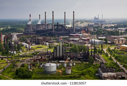 Industrial plant. Abandoned factory