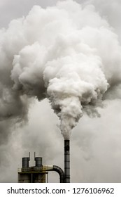 Industrial plant emitting atmospheric pollution.