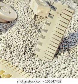 industrial plastic granules background