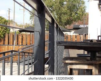 Industrial Porch Setting Rustic Restaurant