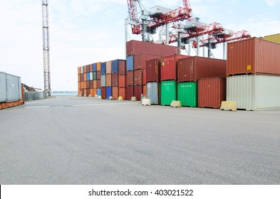 industrial port with containers. Port. Logistics. Port. Business.