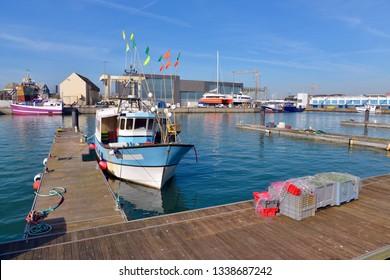 Industrial port of Les Sables d'Olonne, commune in the Vendée department in the Pays de la Loire region in western France