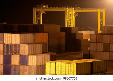 Industrial port in Novorossiysk, Russia