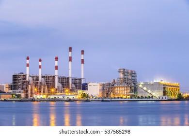 Industrial power plant energy.