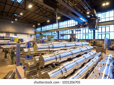 industrial production of shafts for heavy industry