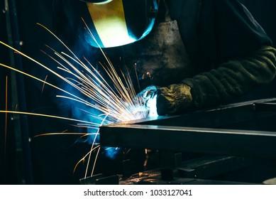 Industrial professional welder