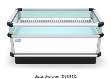 Industrial refrigerator horizontal trade isolated on white background