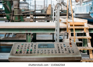 Industrial remote control. Manufacture of particle boards, chipboard, veneer, plywood, wood panels. Wood processing Woodworking industry