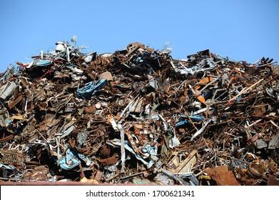 Industrial scrap metal / Scrap metal on recycling site