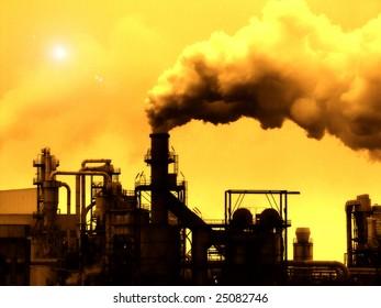 Industrial Smoke Pollution - Global Warming
