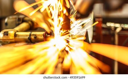 Industrial spot nut welding automotive auto parts.