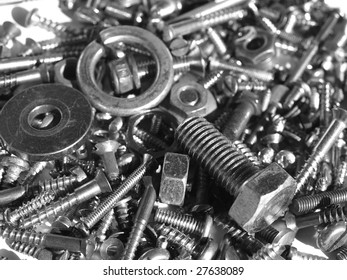 Industrial steel hardware bolts, nuts, screws
