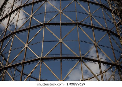 Industrial Steel Structure With Blue Sky