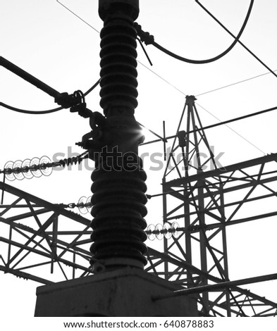 Industrial Switch Hydroelectric Power Plant Production Stock Photo