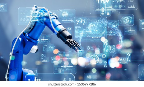 Industrial technology concept. Factory automation. Smart factory. INDUSTRY 4.0 - Shutterstock ID 1536997286