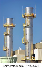Industrial Towers in a power plant facility