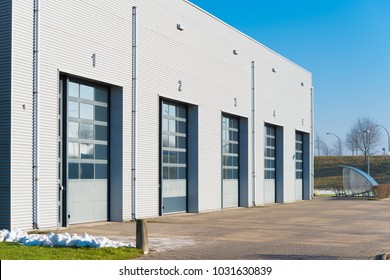 industrial unit with shutter doors