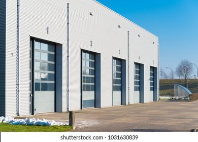 industrial unit with shutter doors