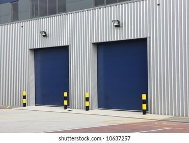 Industrial Unit with steel roller shutter doors