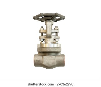 Industrial Valve for piping work isolated on white background