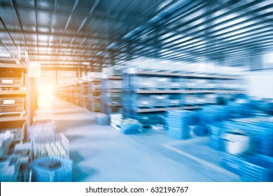 industrial warehouse of abstract background in a factory