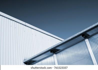 Industrial warehouse facade