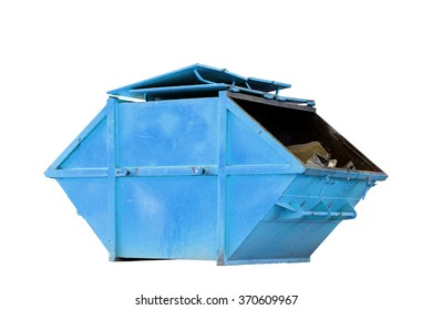 Industrial Waste Bin (dumpster) for municipal waste or industrial waste, isolated on white background with clipping path
