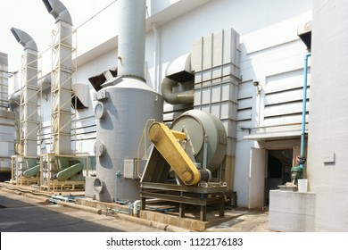 industrial wet scrubber at a manufacturing plant      for  collector chemical acid