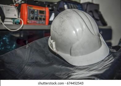 Industrial White Working helmet