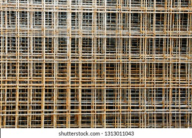 Industrial wire mesh sheets as a background