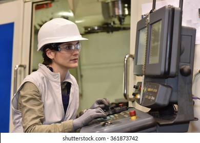 Industrial worker programming electronic machine