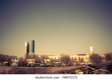 the industrial zone