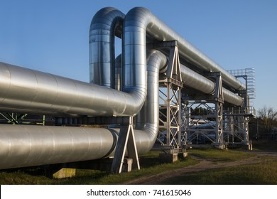 Industrial zone. The equipment of oil refining