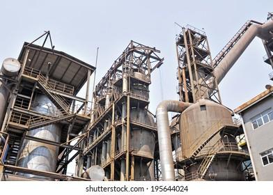 Industrial zone of steel pipe