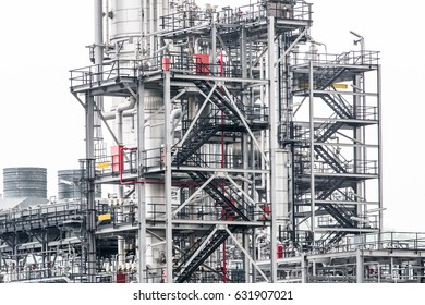 Industrial zone,The equipment of oil refining,Close-up of industrial pipelines of an oil-refinery plant,Detail of oil pipeline with valves in large oil refinery,isolated on white background.