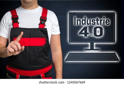 Industrie (in german industry) 4.0 and craftsman concept.