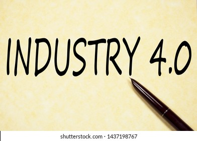 Industry 4.0 text write on paper