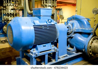 industry large blue many motor pump for cooling system and turbine fitting