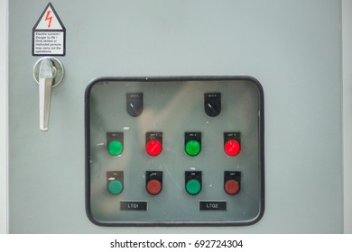 industry main electricity switch control box with light button
