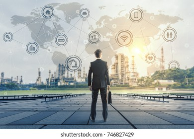 Industry and network concept.