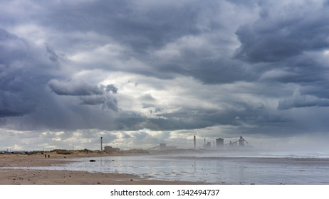 Industry on the coast of Redcar.