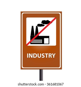 Industry on traffic sign