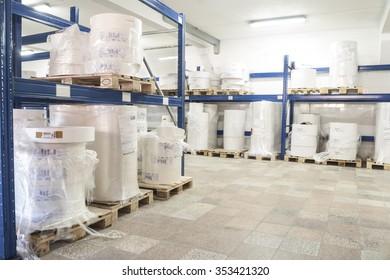 Druckpresse für Etiketten für Produkte