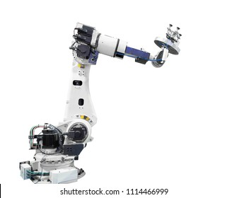 Industry robotic arm isolated included clipping path