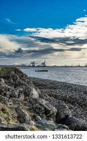 Industry at the South Gare. Located on the north east coast of England.