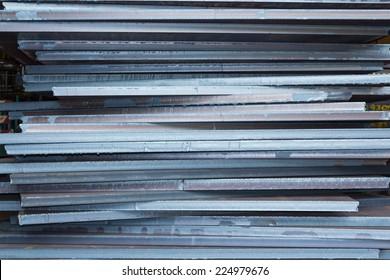 Industry steel, Stack of product steel, Steel plate.